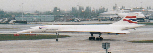 Concorde taxying, Heathrow, April 2003