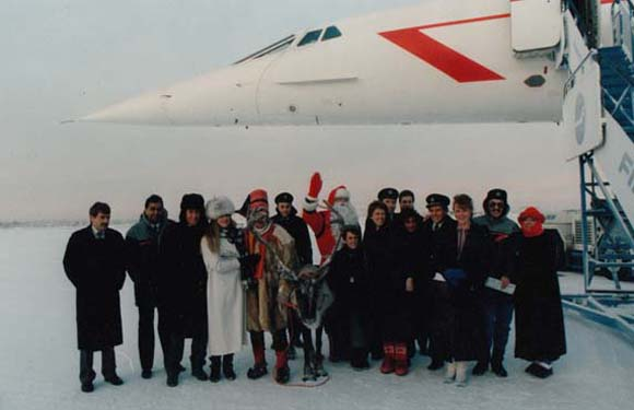 Concorde's Christmas visit to Lapland