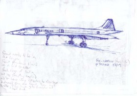 Sketch from life of F-BVFC at Toulouse