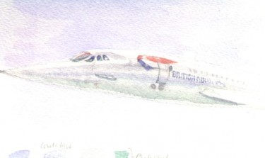 Concorde G-BOAC, watercolour sketch