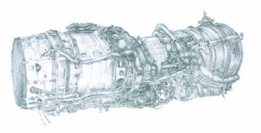 Olympus 593 prototype aero engine, pencil