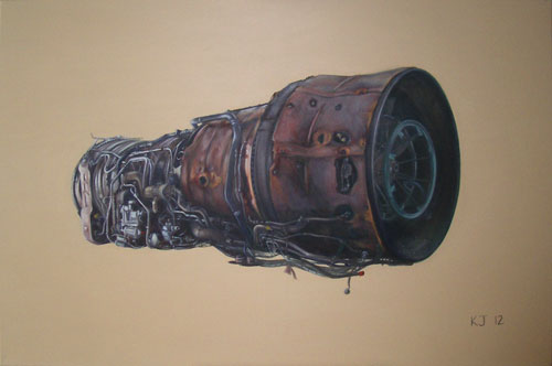 Olympus 593 aero engine painting commissioned by Garey Goss